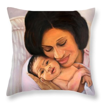 Chanelle And Kaycee Victoria Throw Pillow