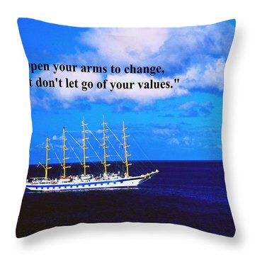 Change Throw Pillow by Gary Wonning