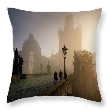Charles Bridge, Prague, Czech Republic Throw Pillow