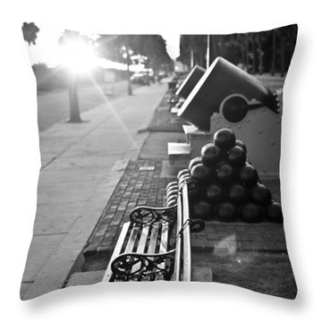 Charleston Battery Sunset Throw Pillow by Dustin K Ryan