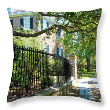 Charming Charleston Throw Pillow by Kay Gilley