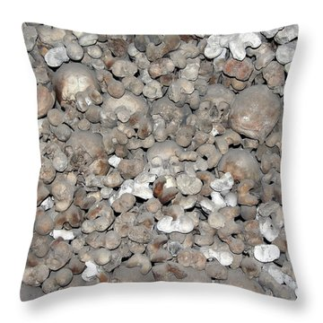 Throw Pillow featuring the photograph Charnel House by Michal Boubin