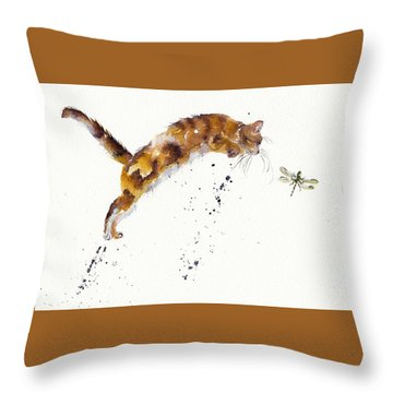 Chasing The Dragon Throw Pillow