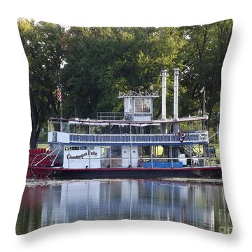 Throw Pillow featuring the photograph Chautauqua Belle On Lake Chautauqua by Rose Santuci-Sofranko