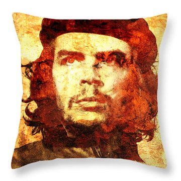 Che Guevara Throw Pillow by J- J- Espinoza