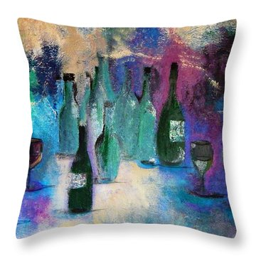 Throw Pillow featuring the painting Cheers by Lisa Kaiser