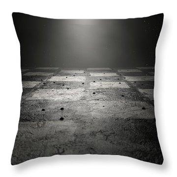 Chessboard Dark Throw Pillow
