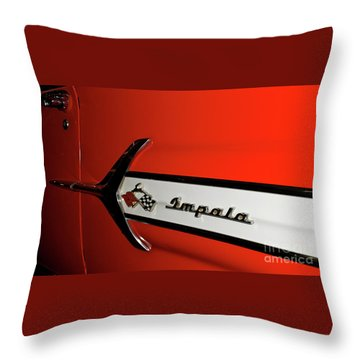 Chevy Impala Throw Pillow by Pamela Walrath