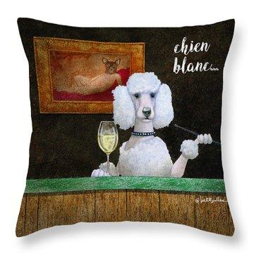 Chien Blanc... Throw Pillow