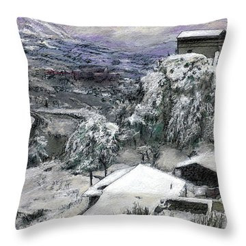 Chiesa San Vito In The Snow Throw Pillow