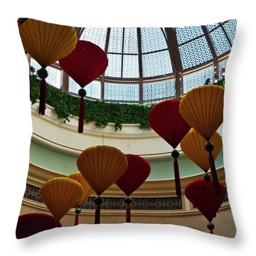 Chinese Lanterns Throw Pillow by Rae Tucker