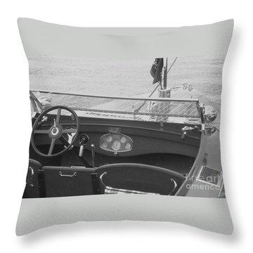 Runabout On Pewaukee Throw Pillow