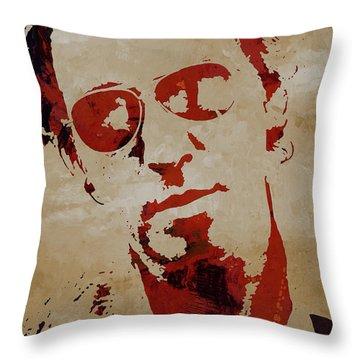 Chris Martin Coldplay Throw Pillow