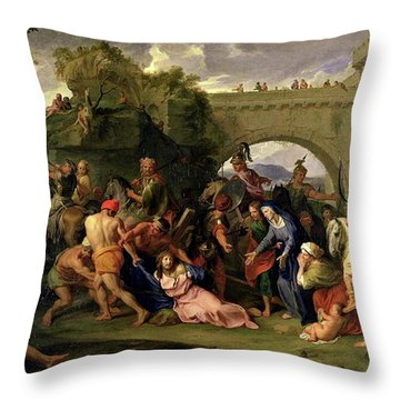 Christ Carrying The Cross Throw Pillow