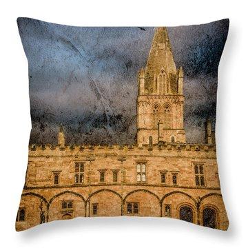 Oxford, England - Christ Church College Throw Pillow