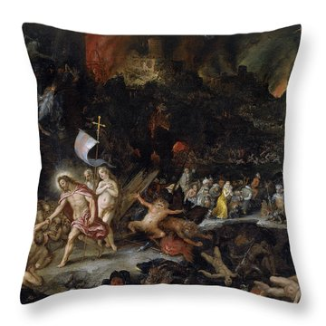 Christ In Limbo Throw Pillow