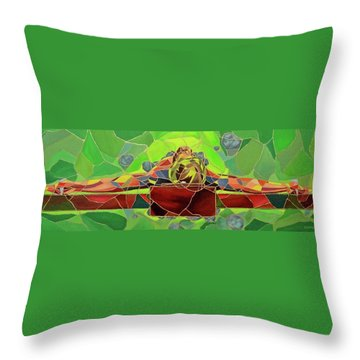 Christ In Stained Glass Throw Pillow