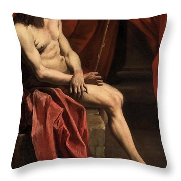 Christ Mocked Throw Pillow