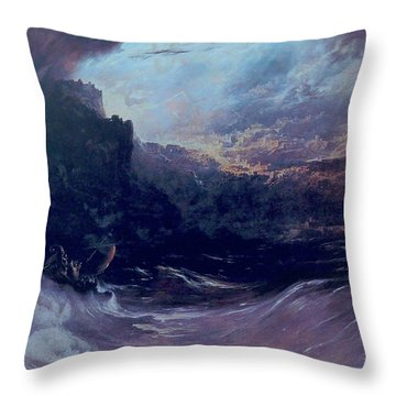 Christ Stilleth The Tempest Throw Pillow