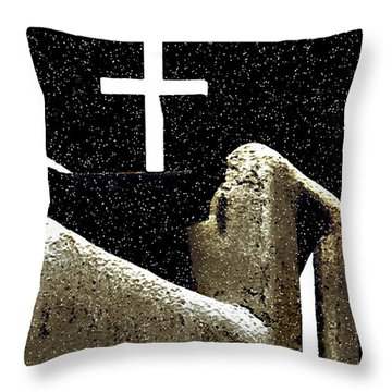 Christmas In Taos Throw Pillow