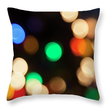 Throw Pillow featuring the photograph Christmas Lights by Susan Stone