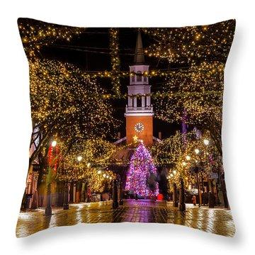 Christmas Time On Church Street. Throw Pillow