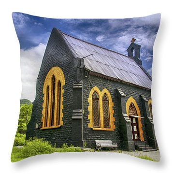 Throw Pillow featuring the photograph Church by Charuhas Images