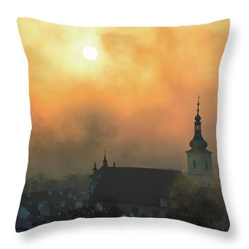Church Of Our Lady Victorious, Prague, Czech Republic. Throw Pillow