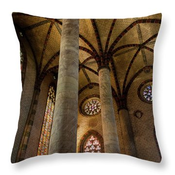 Throw Pillow featuring the photograph Church Of The Jacobins Interior by Elena Elisseeva