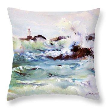 Churning Surf Throw Pillow