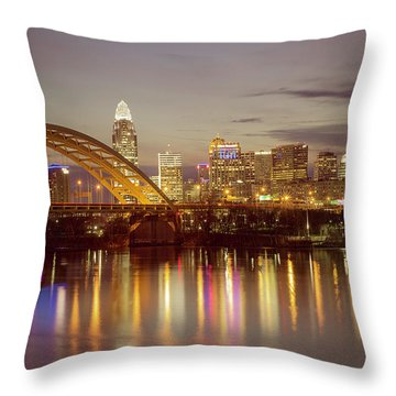 Cincinnati Throw Pillow by Scott Meyer