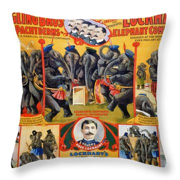 Circus Poster, 1899 Throw Pillow by Granger
