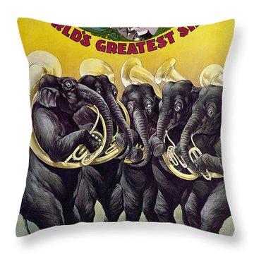 Circus Poster, C1899 Throw Pillow by Granger