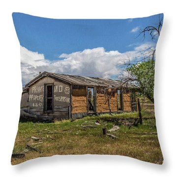 Cisco, Utah, Ghost Town Throw Pillow