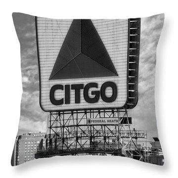 Citgo Sign Kenmore Square Boston Throw Pillow