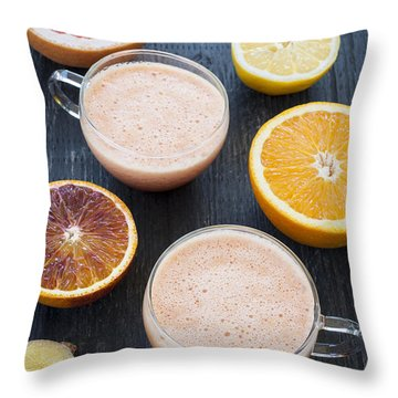 Citrus Smoothies Throw Pillow