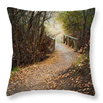 City Creek Bridge Throw Pillow
