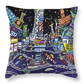 City Of Lights Throw Pillow by Jason Gluskin