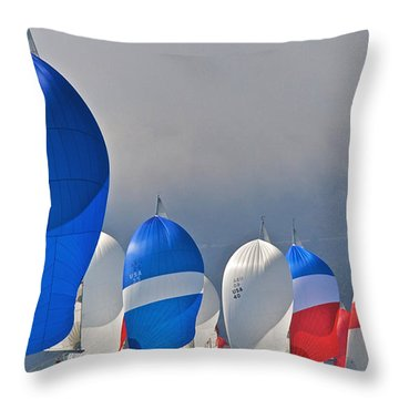 City Spinnakers Throw Pillow