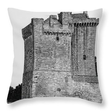 Clackmannan Tower Throw Pillow by Jeremy Lavender Photography