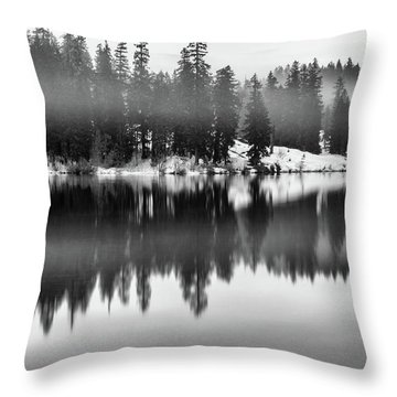 Throw Pillow featuring the photograph Clear Lake by Cat Connor