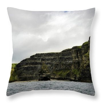 Throw Pillow featuring the photograph Cliffs Of Moher From The Sea by RicardMN Photography