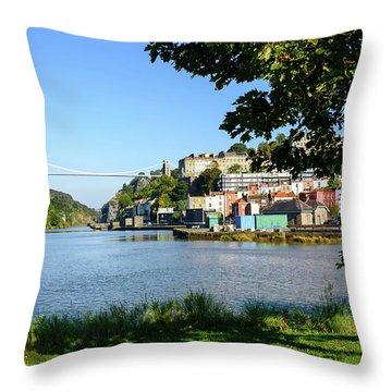 Clifton Suspenion Bridge Throw Pillow