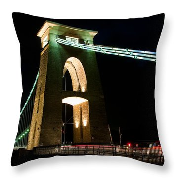 Clifton Suspension Bridge, Bristol. Throw Pillow