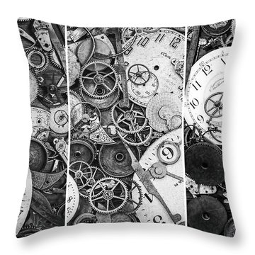 Clockworks Still Life Throw Pillow
