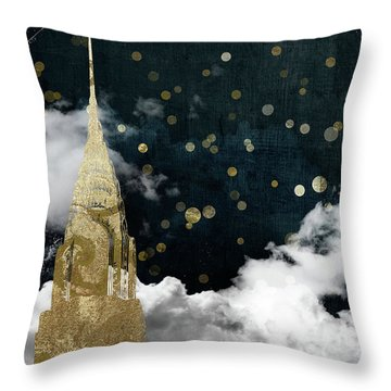 Cloud Cities New York Throw Pillow