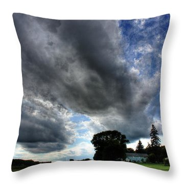 Cloud Lane Throw Pillow