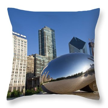 Cloudgate Reflects Throw Pillow