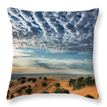 Clouds Over East Bay Hills Throw Pillow by Marc Crumpler