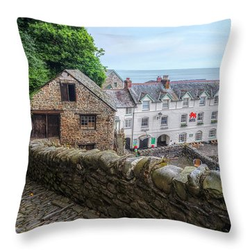 Clovelly - England Throw Pillow